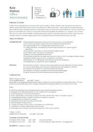 Office Admin Resume Samples Resume Samples For Office Jobs Mwb Online Co