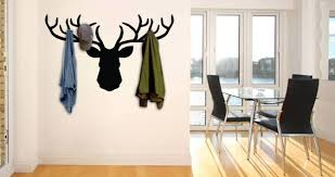 Coat Racks For Walls Deer Coat Rack Wall Decal Dezign With a Z 48
