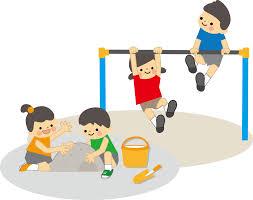 遊ぶ子どものイラスト無料素材