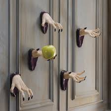 ideas outdoor halloween pinterest decorations:  halloween silhouette hallway decoration spooky wall mount halloween hands
