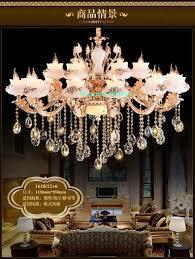 Großhandel Maria Theresa Wohnzimmer Kronleuchter Led K9 Kristall Kronleuchter Stein Jade Romantische Treppe Kristallkugel Kronleuchter Groß Von