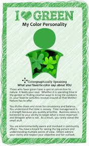 Green: Find out what your favorite color says about you in the I  Color  series from The Land of Color. I Love Green!