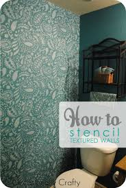 how to project stencil beautiful textured walls