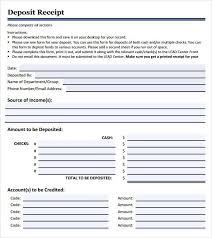 Deposit Receipt Sample Reprint Deposit Receipt Landlord Receipt 302830580056 Free