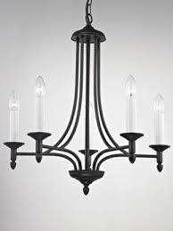 jacqui black iron 5 candle light chandelier