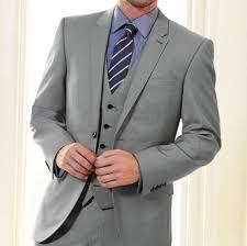 Mens Light Grey Wedding Suits Us 62 56 38 Off Bespoke Light Grey Groom Tuxedos Best Man Notch Lapel Groomsmen Men Wedding Suits Bridegroom Party Blazer Jacket Pants Vest In