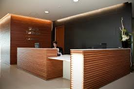 modern office reception desk. Reception Desk Wood Paneling And/or Lighting Fixture Option Modern Office E