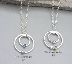 circle slider birthstone necklace for mom with necklaces awwake me