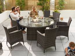 m round fire pit table