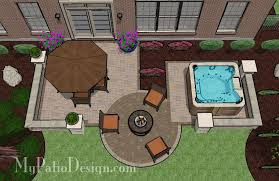 patio designs with fire pit and hot tub. I Love The Hot Tub And Fire Pit! Patio Design \u2013 Designs \u0026 Ideas Post This Is Just Perfect! With Pit N