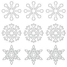 Write lunch box notes on the free printable snowflake templates. Free Snowflakes Coloring Pages Printable