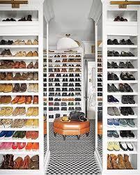 walk in shoe storage solution