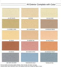 Exterior Stucco Color Chart Color