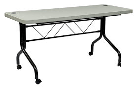 office tables on wheels. Beautiful Office Amazoncom Office Star Resin MultiPurpose Flip Table With Locking Casters  5Feet Long Kitchen U0026 Dining Intended Tables On Wheels