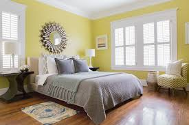 mirror paint for wallsBedroom With Yellow Warm Paint Colors And Wall Mirror  Warm Paint