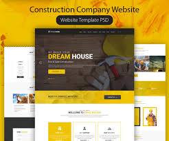 Construction Website Templates Construction Company Website Template PSD Download Download PSD 11