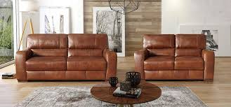 lucca 3 2 seater marinelli italia real leather brown