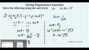 solving trigonometric equations unit circle how to trigonometry algebra 2