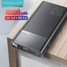 <b>KUULAA Power Bank</b> 20000mAh QC PD 3.0 PoverBank Fast ...