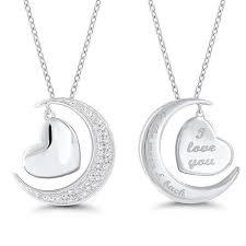 i love you to the moon back diamond pendant love you to the moon and back necklace