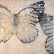 BUTTERFLIES and LACE Painting by Claudette McDermott