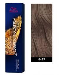 Wella Koleston Perfect Me Permanent Hair Color 8 97 Light Blonde Cendre Brown