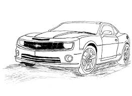 Transformers Coloring Pages Bumblebee Car