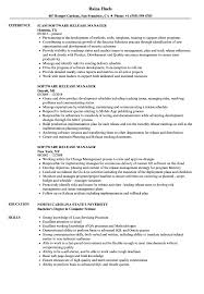 Software Release Manager Resume Samples Velvet Jobs