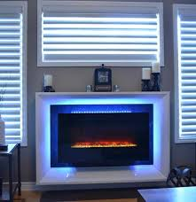 how to convert a gas fireplace to electric living room after