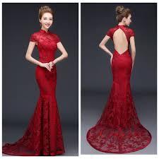 Burgundy Bridesmaid Dresses New High Neck Lace   Dresscab
