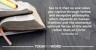 Image result for Colossian 2:8 Cults