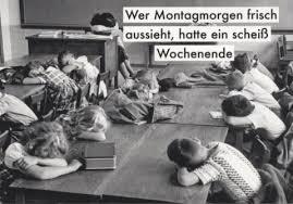 Postkarte Sprüche Lustig Wer Montagmorgen Frisch Aussieht Hatte