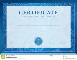 Certificate, Diploma Template. Award Pattern Stock Vector ...