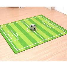 soccer field ground kids area rug football carpet for kid in large