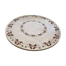 gbhome gh 6748 premium engraved wood tabletop lazy susan 18 x 18 x 1 rustic antique distressed look turn table kitchen dinner turning table tray