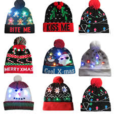 Light Up Christmas Sweater Kids Us 3 89 22 Off 2019 Led Light Up Knitted Christmas Beanie Ugly Christmas Sweater Christmas Tree Beanie Hat For Children Adult Christmas B1 In