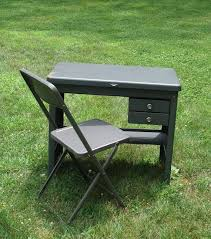 vintage cole steel child s grey metal desk and folding within small ideas 17