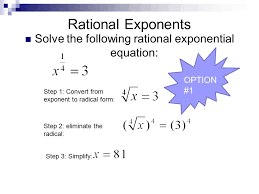 7 solve the following rational exponential equation
