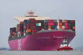 The macedonian sun ist ein containerschiff mit lizenz für den pier 23 nord am hafen von new york und new jersey. Pink Lady Erstes Containerschiff Der Reedereigruppe One Im Neuen Magenta Farbdesign In Hamburg