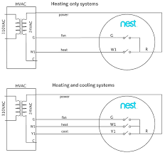 nest thermostat wiring diagram nest heat pump wiring thermostat diagram e honeywell to blue chip