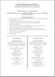 sample resume for apartment manager assistant property management resume resume samples
