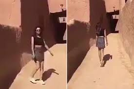 Young Saudi woman sparks controversy with miniskirt video New.