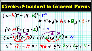 part 2 how to convert circle equations from standard general form center radius algebra precalculus