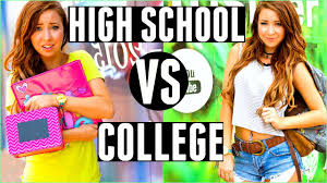 high school you vs college you high school you vs college you