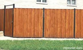horizontal wood and metal fence. Wonderful And Horizontal Board Fence With Metal Posts Wood Home  Interior Designs Ideas Intended And E