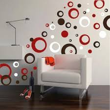 Small Picture Thick Rings Dots Wall Art Design Trendy Wall Designs