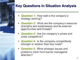Situational Analysis Questions Ppt Key Questions In Situation Analysis Powerpoint Presentation