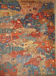 authentic folk art tibetan village rug