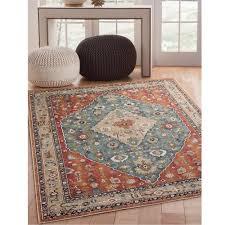 ultimate sams rugs international sonoma jewels aqua 5 ft x 8 area rug 7068