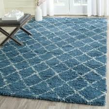 brayden studio lohan hand woven light blue cream area rug